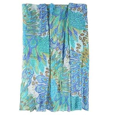 parero fashionschal flower mix parero blue multi amazon. Black Bedroom Furniture Sets. Home Design Ideas