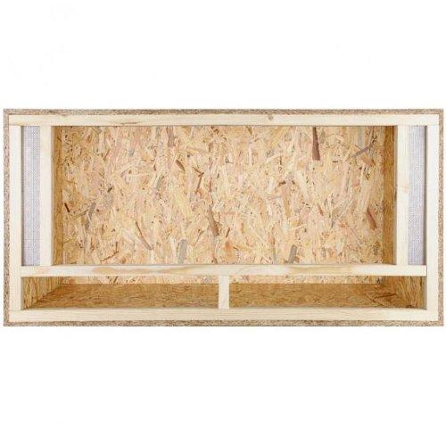 Repiterra Holzterrarium: Terrarium für Bartagame, 120x60x60 cm mit Frontbelüftung, hochwertiges Terrarium aus OSB Holz, leichte Montage