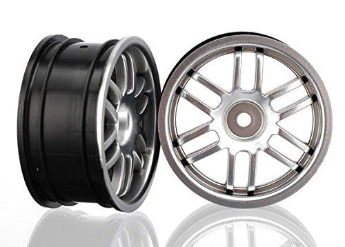 Traxxas 7371A Rally Wheels, Satin Chrome, 1/16 Rally Cars, 2-Piece - 1