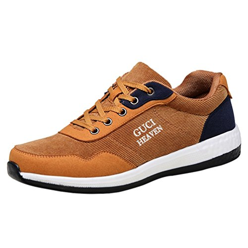 Freerun Mens Utility Lace-up Breathable Anti-Slip Athletic Running Shoes (9.5 B(M)US,tan) (Running Spike Plugs compare prices)