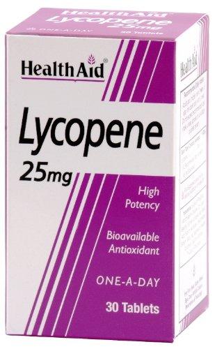 HealthAid Lycopene 25mg - Antioxidant - 30 Tablets