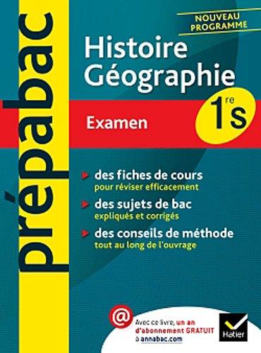 Prépabac examen Histoire-géographie 1re S
