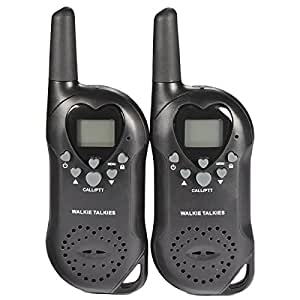 2pcs Mini Walkie Talkie T-6 0.5W UHF Europe Frequency 446MHz LCD Display VOX Squelch Two-Way Radio - Black