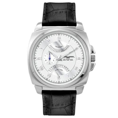 Jorg Gray JG1040-14 - Reloj analógico para hombre, correa de cuero color negro