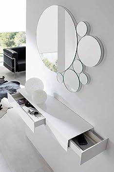 CH DESIGN - Recibidores Modernos - Consola BOB - iBERGADA (Blanco)