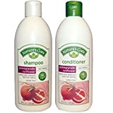 Nature's Gate All Natural Organic Pomegranate Sunflower Defense Shampoo and Conditioner Bundle with Anti-dandruff Flaky Scalp Treatment, 18 Fl. Oz. Each