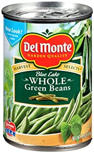 Del Monte Whole Green Beans, 14.5-Ounce (Pack of 8)