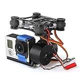 Foxnovo 新しいバージョン ブラシレスカメラマウントブラシレス雲台 for DJI Phantom and Walkera QR X350 GoPro Hero3 モーター コント ローラー(調整必要なしセット)