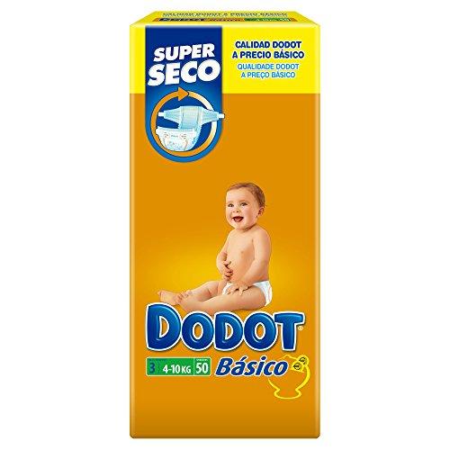 Dodot base-pannolini da bambina, taglia: 3, 4-10 kg, confezione da 50 pezzi