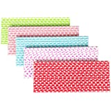 2013newestseller 125pcs Party Wedding Birthday 5 Colors Paper Dot Drinking Straw