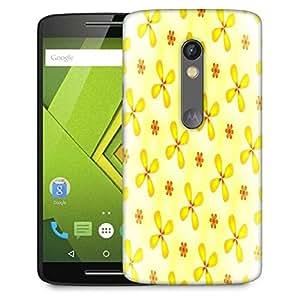 Snoogg Yellow Flower Designer Protective Phone Back Case Cover For Lenovo Motorola Moto G4