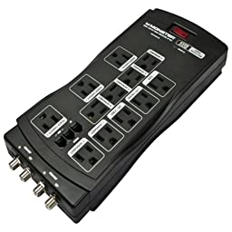 Monster 121721 12-Outlet Just Power It upto 900 Surge Protector