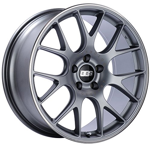 BBS CH-R Titanium Wheel with Painted Finish and Polished Stainless Steel Rim (19x8.5