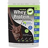 Non-GMO Pure Whey Protein Isolate: 1 Lb - Dutch Chocolate - Instanized To Easy Mixing: Lactose Free: Kosher Certified...