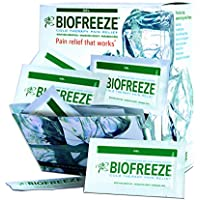 100 Count Biofreeze Pain Relief Gel, 5mL Packet