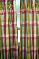Savanna Silk Tafetta checks curtain