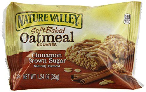 Nature Valley Soft Baked Oatmeal Squares, Cinnamon Brown Sugar, 7.44 Ounce (016000458987)
