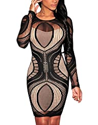 Cfanny Womens Lace Nude Illusion See…