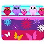 Cute owl and flower Customized Rectan...
