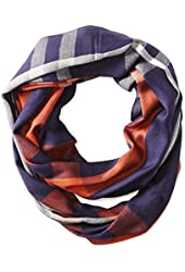 Vince Camuto Women's Plaid Infinity Scarf with Faux Leather