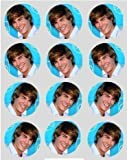 12 Zac Efron rice paper fairy cup cake 40mm toppers pre cut decoration