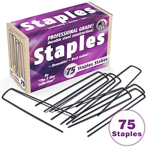 75 6-Inch Garden Landscape Staples / Stakes / Pins - Made in USA - Strong Pro Quality Built to Last. Best Weed Barrier Fabric, Lawn Drippers, Irrigation Tubing, Wireless Dog Fence (Metal Toolbox Made In Usa compare prices)