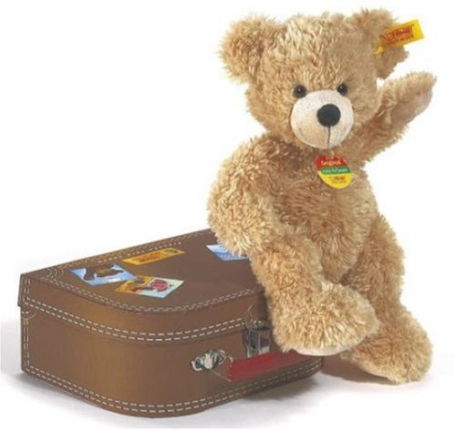 Steiff 28cm Fynn Teddy Bear in Suitcase (Beige)