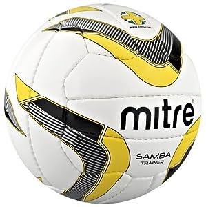 Mitre Samba Trainer 18P (DV) Ball - White/Silver/Yellow - 2