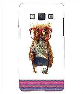 PrintDhaba Owl D-3316 Back Case Cover for SAMSUNG GALAXY E5 (Multi-Coloured)
