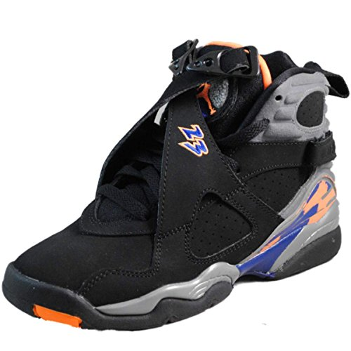 Images for Nike Youth (BOYS) Air Jordan 8 Retro Basketball Shoes Black/Bright Cactus/Cool Grey 305368-043 Size 4.5
