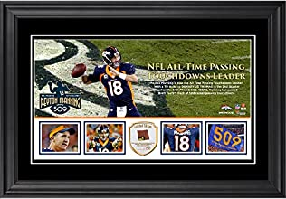 Peyton Manning Denver Broncos Becomes NFL All-Time Touchdown Passing Record Leader Framed Panoramic With a Piece of Game-Used Football - Limited Edition of 250 - Fanatics Authentic Certified