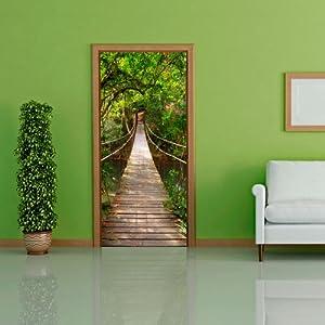 Door wallpaper with nature motif bridge to eden non for Amazon wall mural