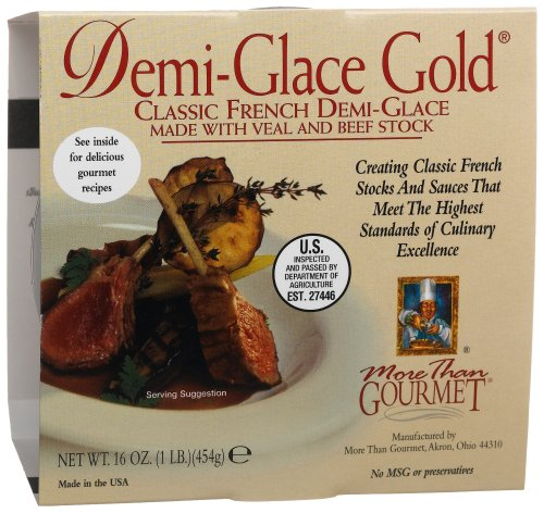 Buy More Than Gourmet Demi-glace Gold  French Demi-glace, 16 Ounce Units (More Than Gourmet, Health & Personal Care, Products, Food & Snacks, Canned & Packaged Goods, Soups & Stews)