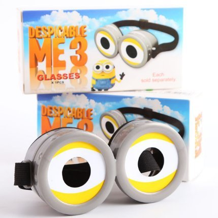 Minions 3D Glasses Child Adult General Cinema Polarization 3D Cosplay