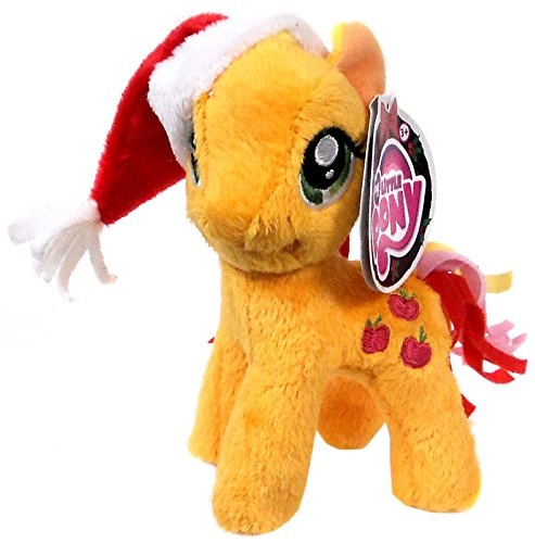 My Little Pony Friendship is Magic Small 5 Inch 5 Inch Plush Applejack [With Santa Hat] - 1