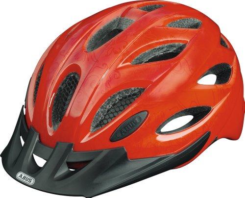 ABUS, Casco bicicletta Unisex Lane-U, Rosso (cherry red), 56-62 cm