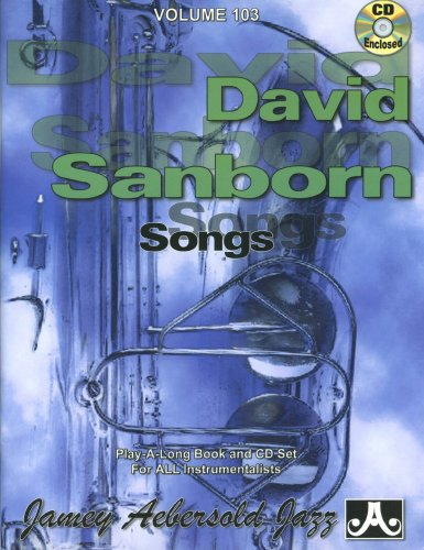 Vol. 103, David Sanborn (book & Cd Set) Picture