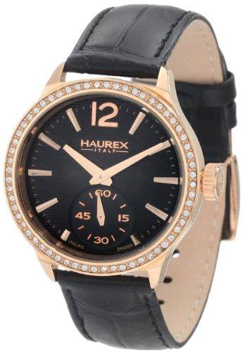 HAUREX ITALY Grand Class Black Dial Watch #FH341DNH- Orologio da donna