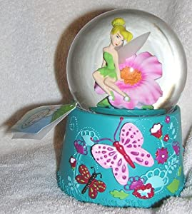 Disney Fairies Tinkerbell Musical Snow Globe Waterball with Blowing Snow from Kcare