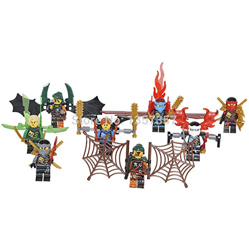 Phantom Ninja Zane Wu Kai JAY Lloyd Skylor Wrayth Master Chen MiniFigures Toy Super Heroes Series Action Figure Building Blocks Brikcs Set Compatible Lego 8pcs (No box, no card) (Ninja Garden Ps3 compare prices)