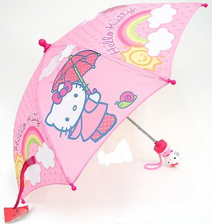Hello Kitty Kids Pink Folding Umbrella