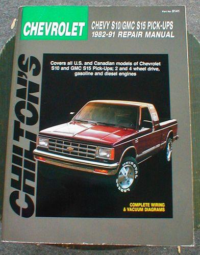 chilton s chevrolet chevy s10 gmc s15 pickups 1982 91 repair manual rh sonnypkd blog free fr Used Chevrolet S10 Pickups Chevrolet S10 Pickup Truck Problems