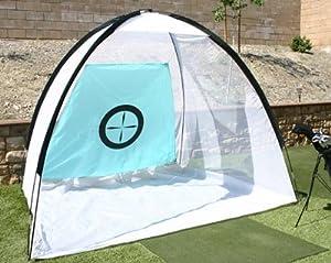 backyard golf practice net hitting cage training aid