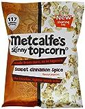 Metcalfe's Skinny Sweet Cinnamon Spice Topcorn 75 g (Pack of 8)