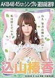 AKB48 45th シングル 選抜総選挙 翼はいらない 劇場盤 特典 生写真 込山榛香 AKB48 チーム4