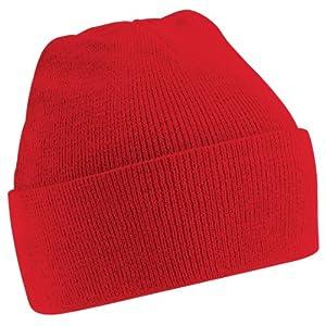 Beechfield - Bonnet tricoté - Adulte unisexe (Taille unique) (Rouge)