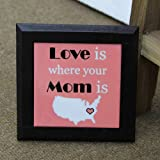 Love Is Mom Tabletop - Table Top 1, Mothers Day Poster, Mothers Day Gifts, Mothers Day Present, Mothers Day Combo...