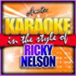 Never Be Anyone Else But You (In the Style of Ricky Nelson) [Karaoke Version]