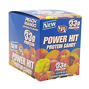 VPX Power Hit, Peach Mango, 3-Ounce, Pack of 6