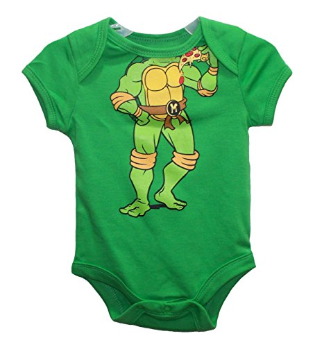 Nickelodeon TMNT Michelangelo Green Baby Boys' Bodysuit Dress Up Outfit